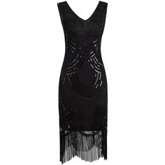 Vijiv Women Flapper 1920s Dress Gatsby Black Vintage Pattern Sparkly... (€41) ❤ liked on Polyvore featuring dresses, sequin cocktail dresses, vintage 20s dresses, 1920s dresses, vintage dresses and vintage style flapper dresses