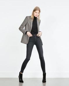 Image 1 of HIGH-WAIST JEANS from Zara