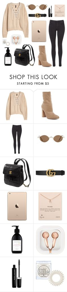 """Sans titre #29"" by juliamendesj ❤ liked on Polyvore featuring H&M, Daya, Maison Scotch, Kate Spade, Gucci, Dogeared, L'Artisan Parfumeur, claire's, Marc Jacobs and Invisibobble"