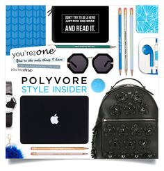 """""""Back To School: Backpacks"""" by sonny-m ❤ liked on Polyvore featuring Casetify, PhunkeeTree, Fendi, Mead, Karen Walker, Charlotte Russe, backpacks, contestentry and PVStyleInsiderContest"""
