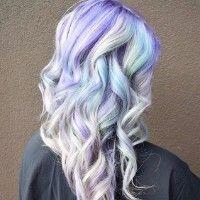 Znalezione obrazy dla zapytania pastel rainbow hair