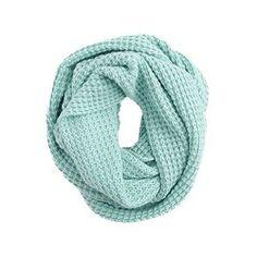 J. Crew waffle-stitch infinity scarf