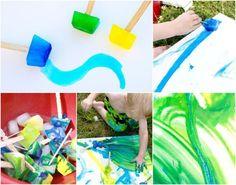 activités manuelles enfants pour les vacances d'été: feutres glacés