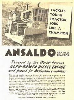 ANSALDO  FOSSATI   Alfa Romeo Diesel Engine manifesti