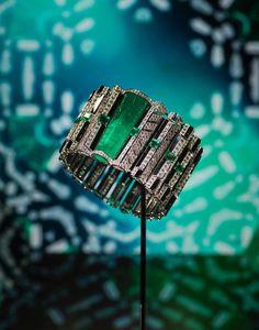 Bracelet Cinétique de Cartier en émeraudes