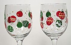 Christmas wine glass. Trying this one next!
