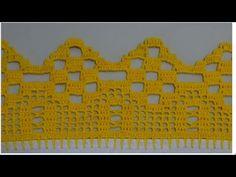 Barrado em crochê para pano de prato ou toalhas