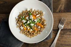 Adobo Acorn Squash, Crispy Quinoa, and Jalapeño Chimichurri Bowl