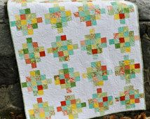 PDF quilt PATTERN five sizes from baby to king.... Jelly Roll or Fat Quarters, Mixed Bouquet
