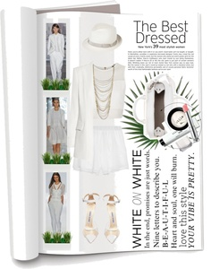 """""""White ON White"""" by sellyna ❤ liked on Polyvore"""