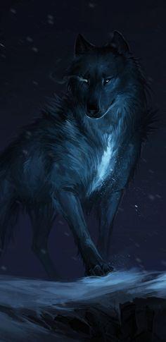 Galaxy Mystical Wolf Wallpaper