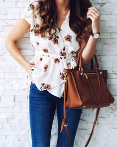 #summer #outfits  A Wrap Top Is One Of My Favorite Styles That I Don't Wear Nearly Enough. This Exact One Is Sold Out But I'm Linking It In Another Print   Another Wrap Style Tank This Way  // Shop This Outfit In The Link