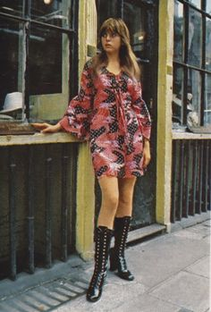 London Boutique fashion 1970 Printed cotton voile mini dress ( from Bus Stop) image scanned and uploaded by Sweet Jane