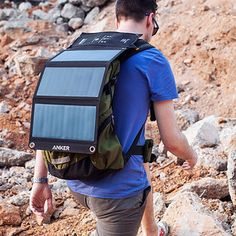 A compact solar panel device charger to make sure your camera has juice for all…