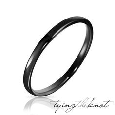Womens/Mens Black Tungsten Carbide Comfort by TyingTheKnotbyClaude