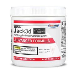 Usp Labs Jack 3D Advanced Formula Nutritional Supplements, Fruit Punch, 8.1 Ounce