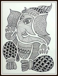 Black and white pineapple doodle zentangle art Doodle Art Drawing, Mandalas Drawing, Zentangle Drawings, Easy Doodle Art, Ganesha Art, Ganesha Sketch, Ganesha Drawing, Mandala Art Lesson, Pencil Drawings