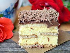 Prajitura regina, cu biscuiti si crema, fara coacere Facebook Recipe, Cake Videos, Party Desserts, Something Sweet, Vanilla Cake, Sweet Tooth, Nutella, Cheesecake, Deserts