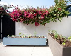 DIY Above Ground Garden Planters with Casters