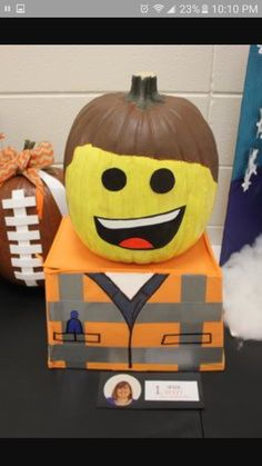 Great Pumpkin idea for Lego lovers from sarahjanenelson.c… Great Pumpkin idea for Lego lovers from sarahjanenelson. Lego Pumpkin, Pumpkin Books, Pumpkin Art, Pumpkin Ideas, Pumpkin Designs, Pumpkin Carving, Pumpkin Painting, Lego Halloween, Holidays Halloween