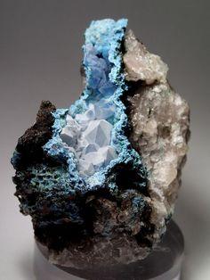 Minerals and Crystals — Chalcedony coating Quartz coating Shattuckite -...