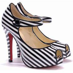 love... heel, stripe, black, white... perfection.