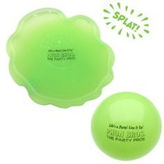 """TOSS N' SPLAT BALL NEON GREEN - Another silly desktop idea that might get them thinking...""""Hey that's different"""""""