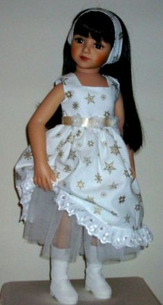 Christmas dress, underskirt & alice band for Maru & Friends dolls by Vintagebaby