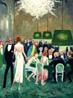 Joueurs de cartes   -   Kees van Dongen   c. 1945.   Dutch  1877-1968  Oil on canvas