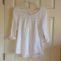 H&M // Boho Henley white boho henley  excellent condition, no flaws  offers are welcome, but please no lowballing!  message me with any questions. H&M Tops Blouses