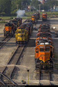 RailPictures.Net Photo: BNSF 2003 BNSF Railway EMD GP38-2 at Galesburg Illinois by Andrew Lummis by Rick Waterworth