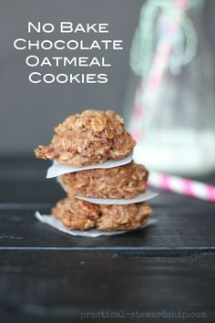 No Bake Chocolate Oatmeal Cookies-uses coconut oil. Can be made GF ...