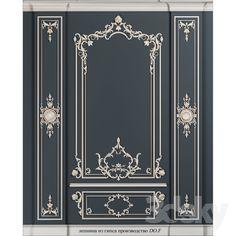 models: Decorative plaster - Frame for gypsum Decor, Classic Interior Design, Classic Decor, Ceiling Decor, Wall Molding, Frames On Wall, Diy Wall Art Decor, Wall Design, Decorative Plaster
