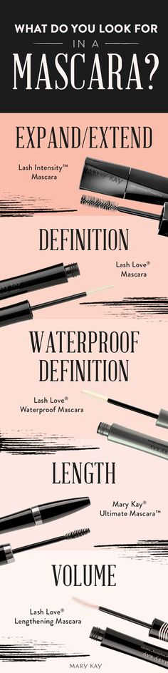 What's your go-to lash look? Whether you want bold, voluminous lashes or waterproof definition, we have five mascaras to choose from, no matter the season!