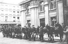 The Special Constabulary pose outside the Town Hall, Brighton, during the General Strike of 1926.