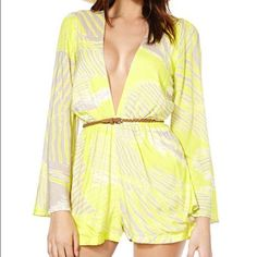Nasty Gal Romper Never been worn, but was taken in a bit. They only had a Large left, so I bought it and basically turned it into a Medium. So cute for summer! Nasty Gal Pants Jumpsuits & Rompers