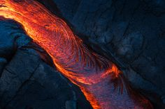 The surface lava from flow that continuously pouring out for about a year now. Best chance to see the flow is by hiking around roundtrip from Kalapana in Big Island, Hawaii Hawaii, New Years Sales, Photos Of The Week, Big Island, Antelope Canyon, Landscape Photography, Travel Photography, Lava, Cool Pictures
