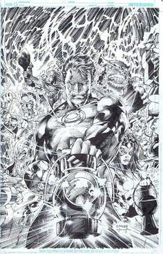 Green Lantern pencils by Jim Lee