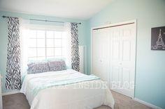 tween bedroom, jet stream paint color by Sherwin Williams