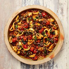 Spicy squid and giant couscous stew - Yotam Ottolenghi's seafood recipes Yotam Ottolenghi, Ottolenghi Recipes, Curry Recipes, Vegetarian Recipes, Cooking Recipes, Healthy Recipes, Healthy Cooking, Delicious Recipes, Squid Recipes