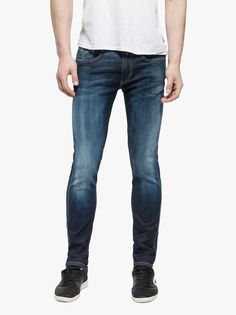 At Evolve Clothing we provide the widest range of clothes from shirts to suits and everything in between. Evolve Clothing, Replay, Latest Fashion, Dark Blue, Footwear, Skinny Jeans, Slim, Clothes For Women, Trending Outfits