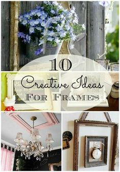 Here are 10 creative ideas that I've collected for using picture frames in  fun new ways.