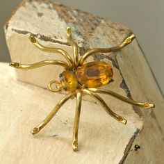 Spider Czecho Pendant Pin Combo Vintage by My3Chicks on Etsy, $44.00