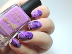 Marine Loves Polish: Purple saran wrap For this manicure, I started by applying Essie Bond with Whomever as a base and I let it dry. Then, I put drops of Kiko 334, Kiko 278, Astor Aurora Boreal and Barry M Boots Limited Edition on my palette in which I dipped small balls of cellophane and then dabbed them randomly on my nails.