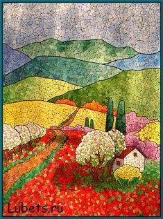 such a clever mosaic landscape