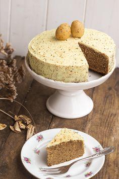 Veganer + glutunfreier Osterkuchen  #torte #glutenfrei #vegan #rezept #ostern #frühling #kuchen