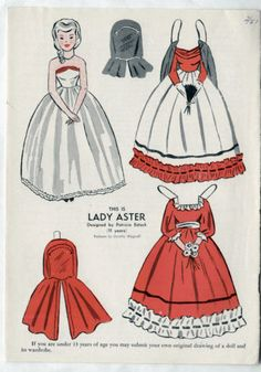 Vintage-LADY-ASTER-Paper-Dolls-1951-uncut-Dorothy-Wagstaff-from-WEE-WISDOM-mag
