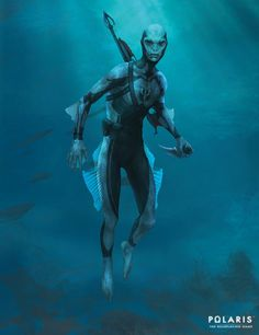 Art featuring merfolk and all sorts of aquatic humanoid creatures. Humanoid Creatures, Alien Creatures, Fantasy Creatures, Mythical Creatures, Character Concept, Character Art, Character Design, Creature Feature, Creature Design