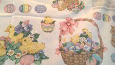 Spring-Fever-VIP-Cranston-Fabric-Panel-Applique-Easter-Bunny-Rabbit-Duck-Eggs
