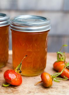 Rose Hip Jelly ~ Homemade jelly made from the rose hips of wild roses. ~ SimplyRecipes.com